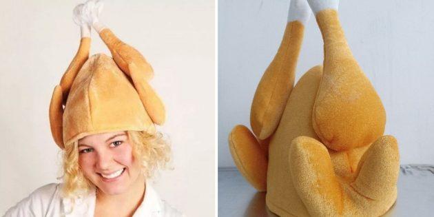Странные товары: шапка в виде курицы