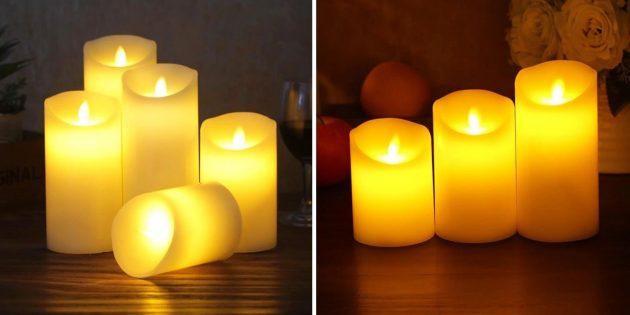 Свечи помогут создать домашний уют