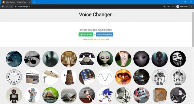 Изменение голоса онлайн: Voice Changer