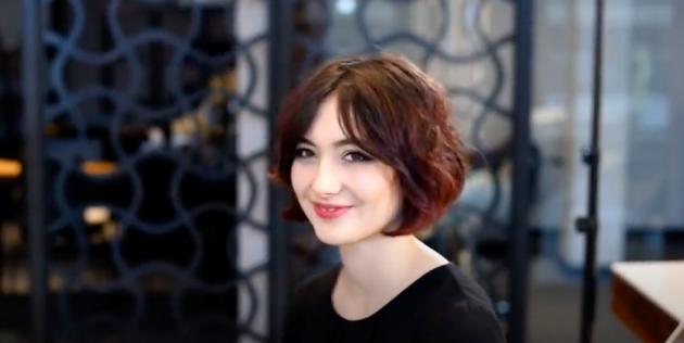 Женские стрижки для тонких волос: французский боб с чёлкой