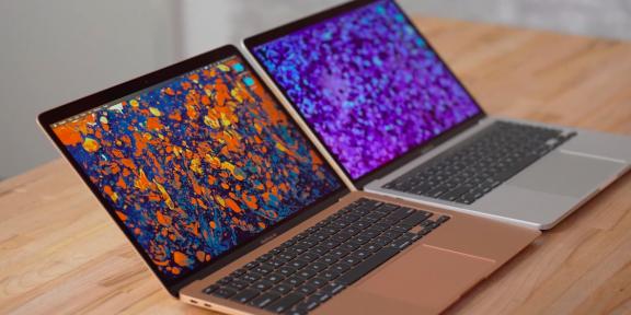 Мощность новых MacBook Air и MacBook Pro с процессорами M1 сравнили на видео