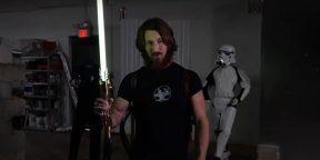 Видео дня: энтузиасты создали настоящий световой меч с «выдвижным лезвием»