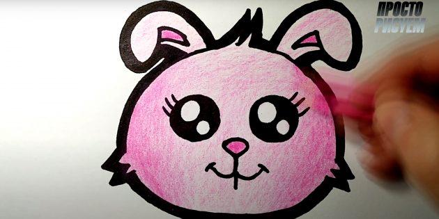 Как нарисовать зайца: закрасьте зайчика