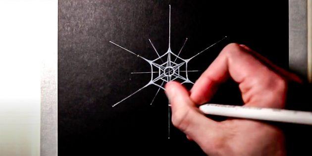 Как нарисовать снежинку: добавьте ещё один шестиугольник