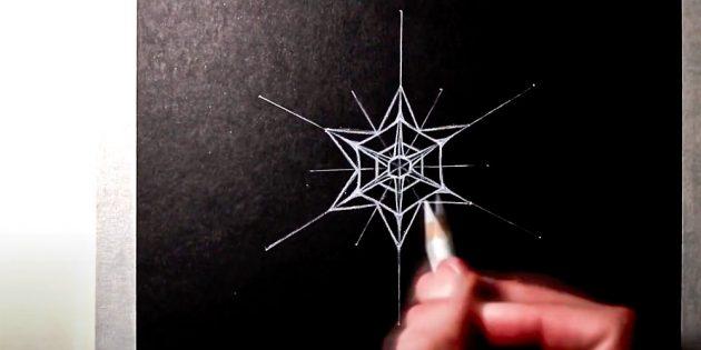 Как нарисовать снежинку: нарисуйте звезду