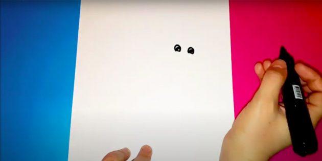 Как нарисовать Снегурочку: нарисуйте глазки