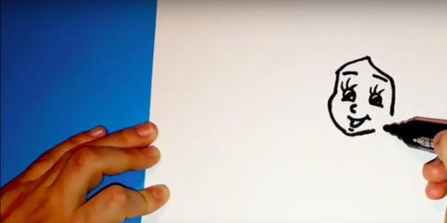 Как нарисовать Снегурочку: нарисуйте лицо