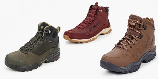 Высокие ботинки на толстой подошве