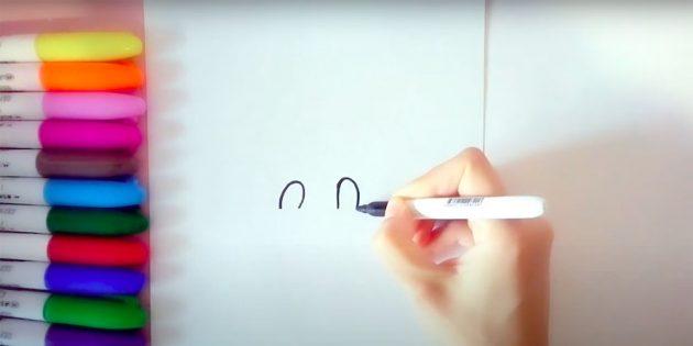 Как нарисовать быка: нарисуйте веки