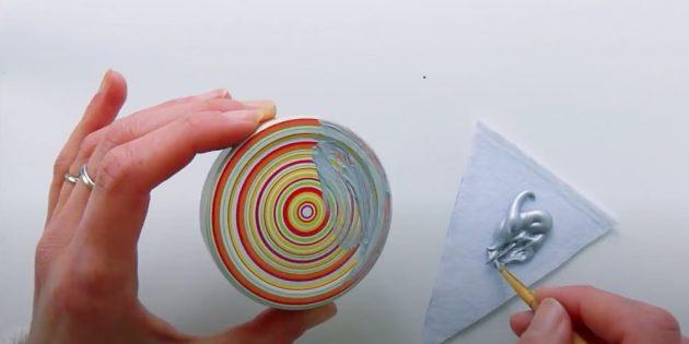 Снежный шар своими руками: покрасьте крышку