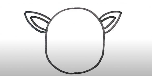 Нарисуйте голову оленя