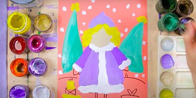 Как нарисовать Снегурочку: раскрасьте елки, волосы и подарки