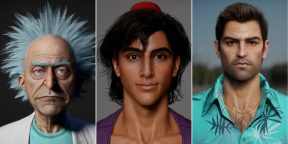 Гомер Симпсон и Огурчик Рик: художник показал реалистичные модели известных персонажей мультфильмов и игр