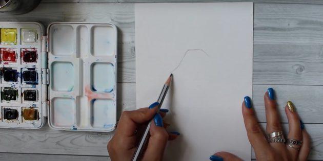 Как рисовать оленя: нарисуйте две линии