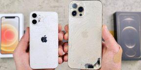 Дроп-тест iPhone 12 mini и 12 Pro Max доказал «бронебойность» Ceramic Shield