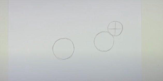 Как рисовать зайца: изобразите линии внутри головы