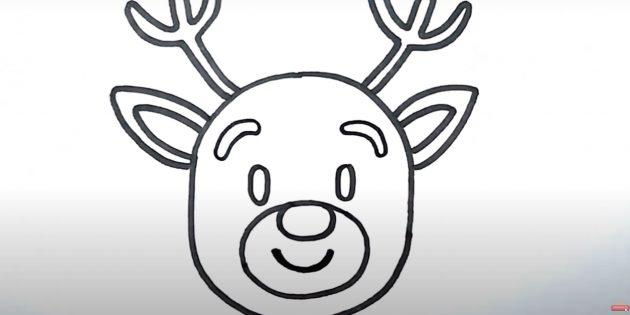 Как нарисовать оленя: нарисуйте брови