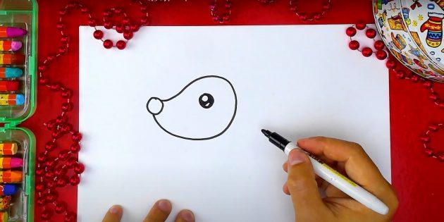 Нарисуйте глаз оленя