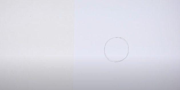 Как нарисовать оленя: нарисуйте круг