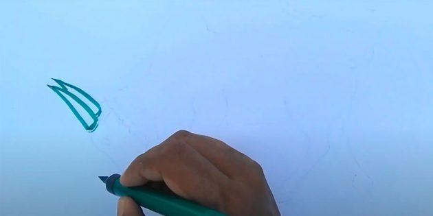 Как нарисовать быка: начните с рогов