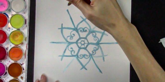 Проведите из углов шестиугольника лучи
