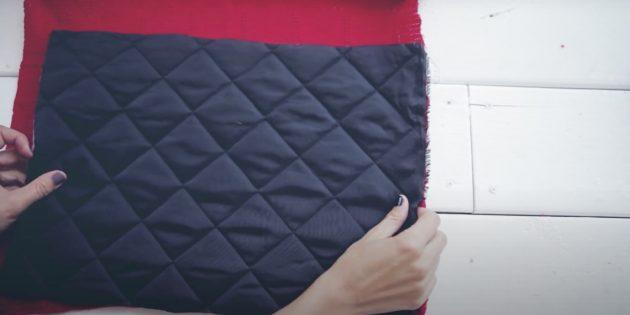 Отмерьте ткань на подкладку