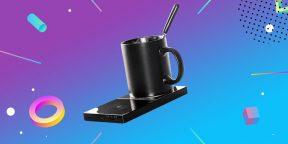 Надо брать: беспроводное зарядное устройство с функцией нагрева чашки за 811 рублей