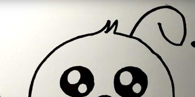 Как нарисовать зайца: добавьте дугу