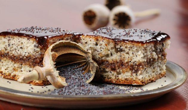 Маковый торт с ганашем