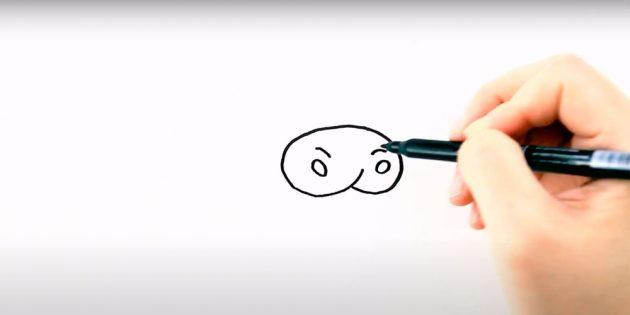 Как нарисовать бычка: нарисуйте нос