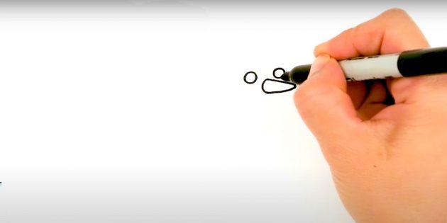 Как нарисовать снеговика: нарисуйте глаза и нос