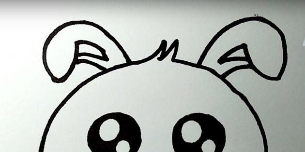 Как нарисовать зайца: изобразите второе ухо
