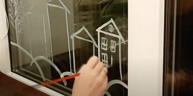 Как украсить окна к Новому году: сделайте окошки