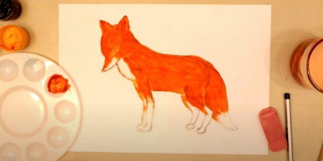 Как нарисовать лису: Подчеркните детали