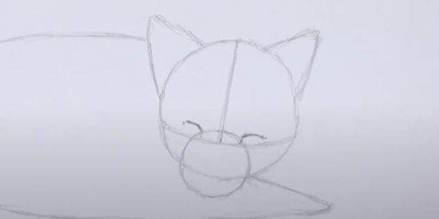 Как нарисовать лису: Нарисуйте глаза