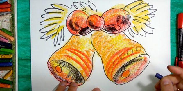 Как нарисовать колокольчик: нарисуйте кружки