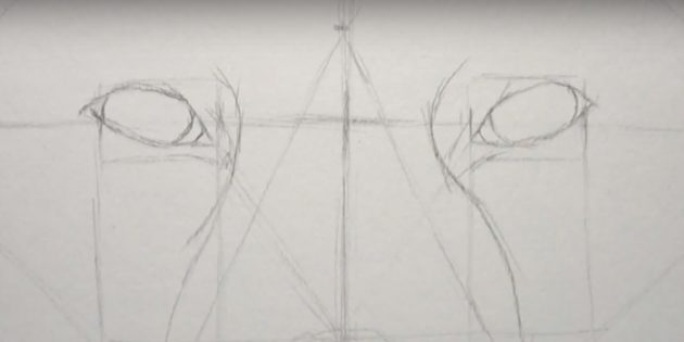 Как нарисовать лису: Нарисуйте дуги