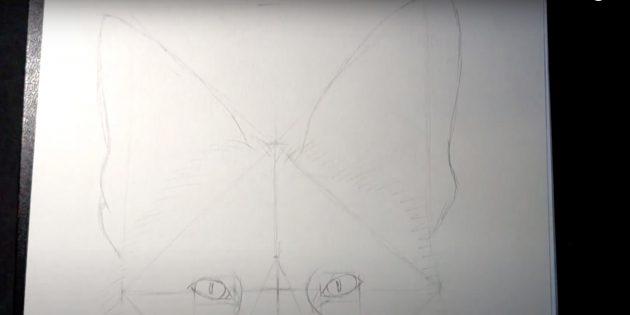 Как нарисовать лису: Придайте форму ушам
