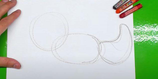 Как нарисовать лису: Нарисуйте хвост