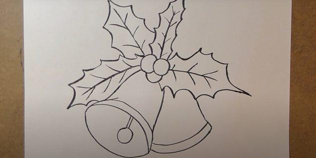 Как нарисовать колокольчики маркером