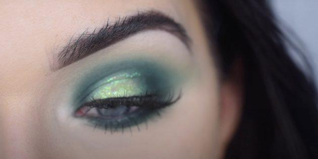 Вечерний макияж для зелёных глаз: подберите зелёные тени или подводку