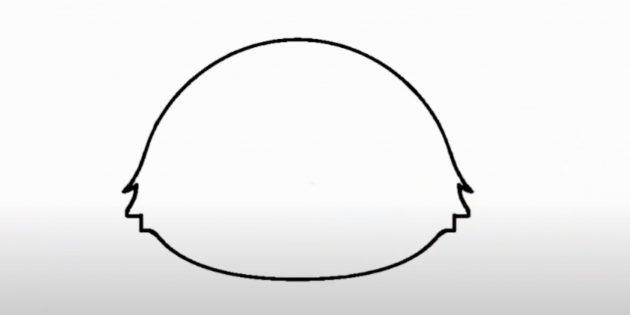 Как нарисовать лису: Нарисуйте подбородок и щёки