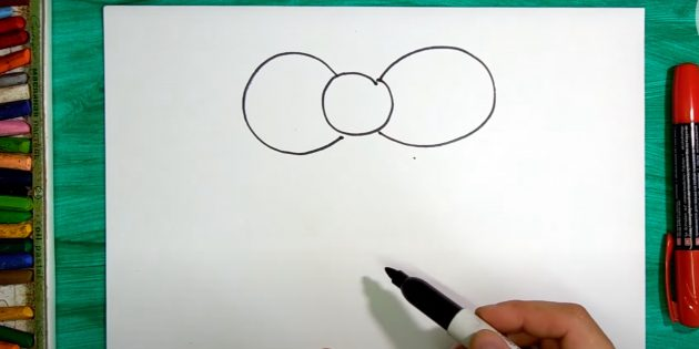 Как нарисовать колокольчик: нарисуйте два овала