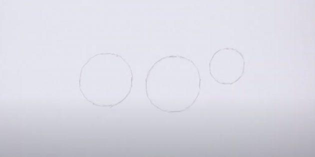 Как нарисовать лису: Нарисуйте третий круг
