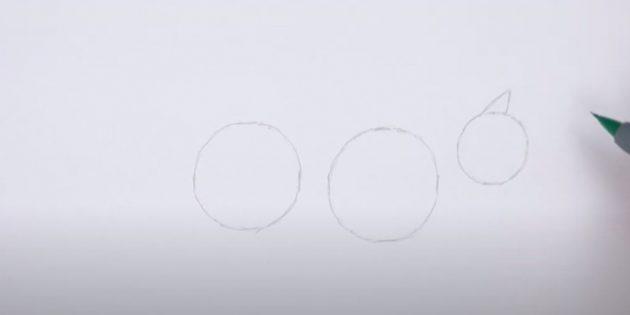 Как нарисовать лису: Обозначьте ухо