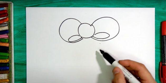 Как нарисовать колокольчик: нарисуйте овалы