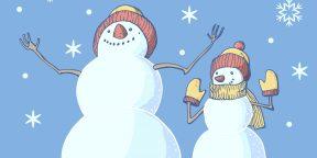 14 способов нарисовать забавного снеговика