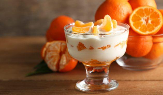 Нежный десерт из мандаринов