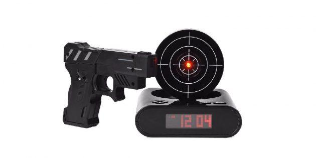 Электронный будильник с прицелом