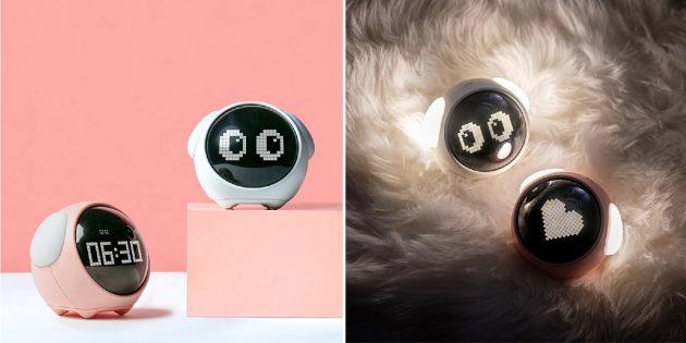 Электронный будильник с милыми глазками